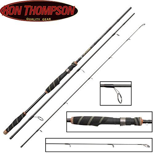 Ron Thompson Tyran NX-Series Travel 210cm 5-20g Spinnrute, 3-teilige Angelrute zum Spinnfischen auf Barsch, Forelle & Zander