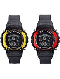 SWADESI STUFF Sky Yellow and Red 7 Light Kinds Boy's and Girl's Watch