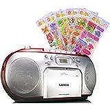 Radio stéréo musique audio portable chaîne hi-fi lecteur CD portable de cassette