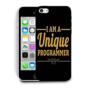 Snoogg I Am A Unique Programmer Designer Protective Back Case Cover For IPHONE 5C