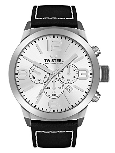 TW Steel Marc Coblen Edition Chrono mit Lederband 42 MM Silver/Black TWMC14