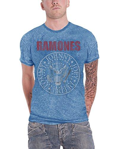 Ramones T Shirt Presidential Seal Hey Ho Logo Oficial de Los Hombres Nuevo Azul