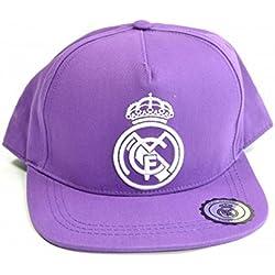 Real Madrid CF Official - Gorra con escudo del equipo. (Modelo Único/Púrpura)