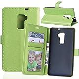 Nancen Compatible with Handyhülle Huawei Mate S (5,5 Zoll) Lederhülle Style Acht Farbe Weich PU Flip Case Ledertasche/Schutz