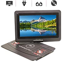 Portable DVD Player,HD 12'' LCD Screen Game TV Player FM Radio Receiver Video Format Support AVI/EVD/DVD/SVCD/VCD/CD/CD-R/RW/Mpeg-4
