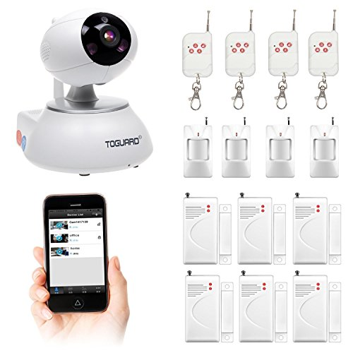Toguard Wireless Security IP Camera Kit WIFI Home Security Surveillance Alarm System With Door 6x Sensor   PIR Body 4x Sensor   4x Remote Control