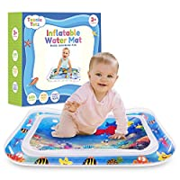 Teenie Totz Inflatable Tummy Time Mat - Premium Baby Water Play Mat For Infants And Toddlers Fun Play Activity Centre For Sensory Baby Development - Perfect Baby Mat For Newborns 3 Months and fun toys