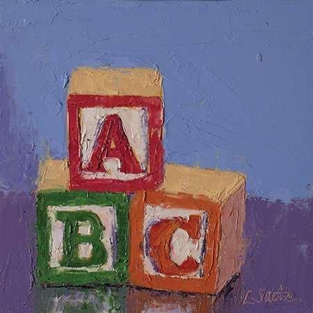 Blocchi ABC by Saeta disponibile, Lisa-Stampa artistica su tela e carta, Tela, SMALL (24.5 x 24.5 Inches ) - Blocchi Nursery Abc