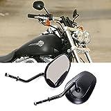 Anzene Höchste Qualität Chrom Rückspiegel für Harley Davidson Flstc Fxdb Dyna Fxdf Flstf 8mm (Schwarz)