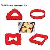 OEYFIEA 4pcs DIY Créatif Silicone Multi-puzzle Moule à Gateau Patisserie Bake Moulds Gateau Decoration Cuisson