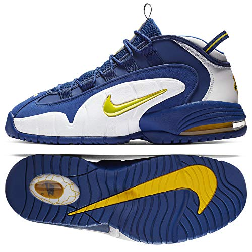 Nike Herren Air Max Penny Basketballschuhe, Mehrfarbig (Deep Royal/Amarillo-White 401), 45 EU -
