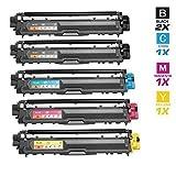 5 Schneider Printware Toner | 100% mehr Druckleistung |je 2.800 Seiten Cyan Magenta Yellow , 25% mehr Schwarz 3.200 Seiten kompatibel zu TN-241 TN245 für Brother HL-3140cw, HL-3150cdw, HL-3170cdw, MFC-9130cw, MFC-9140cdn, MFC-9330cdw, MFC-9340cdw, DCP-9020