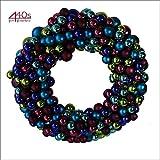 Gift Company Shanghai Kranz XL mit lila türkis Weihnachtskugeln | 4030195064736 | 38232