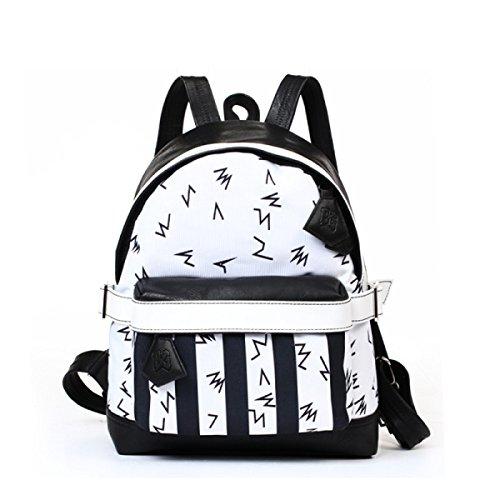 FZHLY Creativo Shoulder Bag Graffiti Tela Di Canapa Casuale Zaino Sport Fashion,AmericanFlag Notes