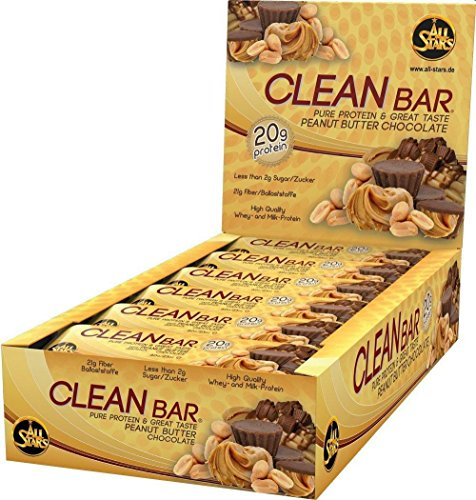 Whey-chocolate Peanut Butter (All Stars Clean Bar, Peanut Butter Chocolate, 18er Pack (18 x 60 g))