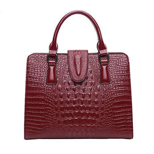 Onzama Damen Geldbörsen Geprägte Krokodil Handtaschen Umhängetaschen Damen Designer Top Griff Satchel Tote Leder -