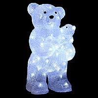 DECO NOEL - OURS et OURSON lumineux - effet givré - 56 lampes LED Blanches