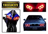 #5: Vheelocityin 70793 Red Angel Eyes CCFL Halo Light for Car and Bikes Headlight