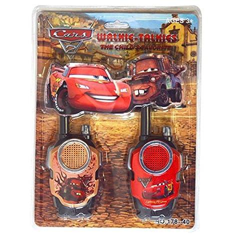 Lightning McQueen Cars 2Film batteriebetrieben Walkie Talkie Kinder spielen Set Hohe Reichweite für Outdoor/Indoor-Umgebung einfach-Design, ideal Spielzeug für und Junge Kind (Spielen Harness Adapter)