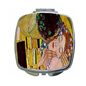 The Kiss By Gustav Klimt Compact Mirror