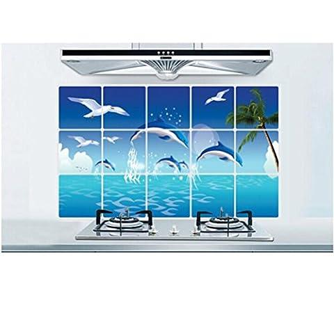 Saingace Dauphins Animaux Océan Amovible Murale d'art Sticker Mural Décoration à la Maison