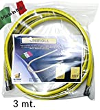 3 metri Tubo flessibile 1/2 FF ' GAS inox A NORMA EN 15266 3 mt per cucina piano cottura