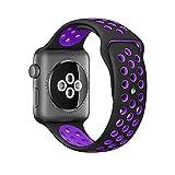 Für Apple Watch Armband Nike+ 38mm/42mm Replacement, Kobwa Silikon Sport IWatch Band Uhrenarmband Ersatzband für Apple Watch Series 2 / Series 1