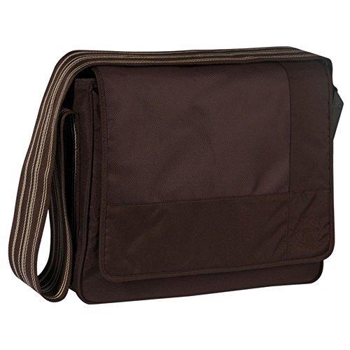 Lässig Casual Messenger Bag Wickeltasche/Babytasche inkl. Wickelzubehör Patchwork, choco (Lassig Messenger Wickeltasche)