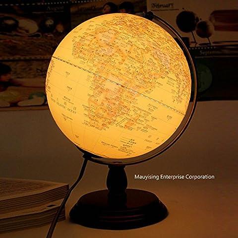 WSND Creative10-Zoll Holz Antike Globen Tisch Lampe Schlafzimmer Lampe Beleuchtung Büro Studie dekorative Lampe