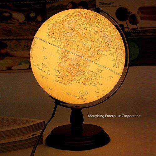 YMXJB Creative10-Zoll Holz Antike Globen Tisch Lampe Schlafzimmer Lampe Beleuchtung Büro Studie dekorative Lampe Draht -