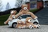 Teddybär groß XXL 100cm Gefüllter Riesen Plüschbär Stofftier Plüschtier, Geschenk, Teddybär Spielzeug Puppe Weiches Plüsch Kinder Freundin Geschenk hellbraun