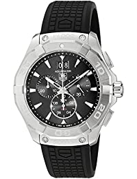 TAG Heuer Men's 43mm Black Rubber Band Steel Case Swiss Quartz Chronograph Watch CAY1110.FT6041