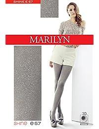 Marilyn mit glitzer Effekt, blickdichte Lurex Strumpfhose, 100 Denier