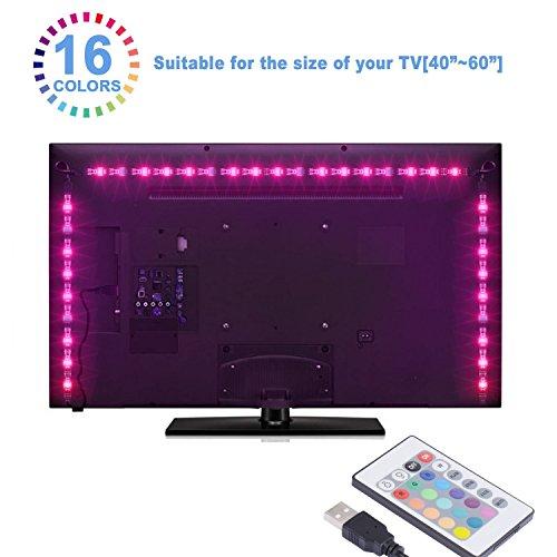 Sunnest Led TV Tira Led RGB 5050 2Metros Led Para