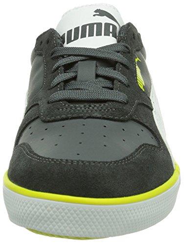 Puma Icra Suede VULC, Sneaker Unisex - Bambino Grigio (Grau (dark shadow-white-sulphur spring 02))