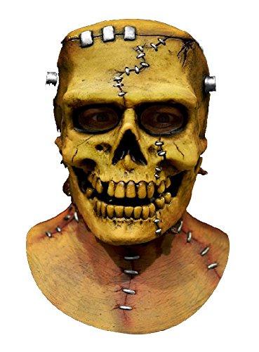 Frankenskull Maske aus Latex zu Frankenstein Totenkopf Halloween