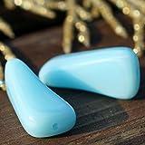 Baby Blue Triangolo Tubo di Vetro Perle di Vetro ceco Perlina di Vetro ceco Perle Blu Tubo di Perle Triangolo delle Perle di Vetro di 23mm x 11mm 4pcs