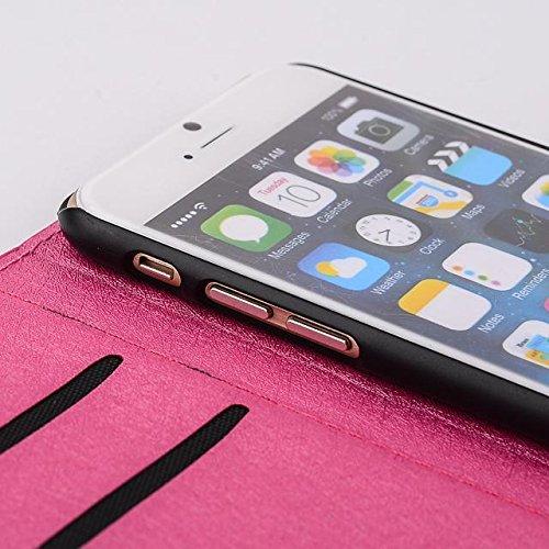 """inShang Hülle für Apple iPhone 6 Plus iPhone 6S Plus 5.5 inch iPhone 6+ iPhone 6S+ iPhone6 5.5"""", Cover Mit Modisch Klickschnalle + Errichten-in der Tasche + SILK PATTERN FLOWER DECORATION , Edles PU L tower rose"""