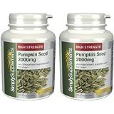 SimplySupplements Graine de Citrouille 2000mg|Santé de la prostate|180 capsules