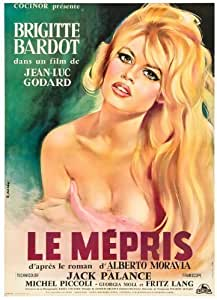 """""""LE MEPRIS"""" Grand Vintage Film Affiche de the Classic 1963 Film with Brigitte Bardot & Jack Palance"""