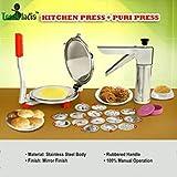 Trackindia Combo Of Stainless Steel Kitchen Press & Puri Press, Chapati Press