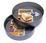 Lets Cook WonderBake Kuchenform, 2er-Set, loser Boden, 20,cm, Teflon®TM antihaftbeschichtet