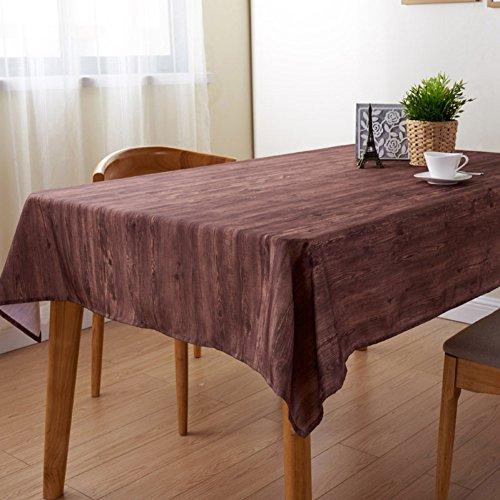 ZC&J Nappes de style rétro européen woodgrain impression polyvalentes nappes, hôtel maison table à manger, table basse, chiffon anti-poussière Bureau,A,90cm*145cm