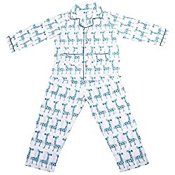 Vbirds Assorted Printed And Color Cotton Full Sleeves Night Suit for Kids (6-7yrs)