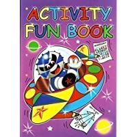 1x PURPLE CHILDRENS LEARNING ACTIVITY & PUZZLE FUN COLOURING & TRACING PAPER A4 BOOKS