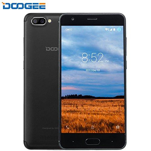 Moviles Libres Baratos, DOOGEE X20L Dual SIM Smartphone Libre Barato, 4G Android 7.0 Telefonos, 5 Pulgadas HD IPS Display y MT6737 Quad Core Movil, 2GB RAM + 16GB ROM, 2.0MP + Cámaras Traseras Duales 5.0MP, Negro