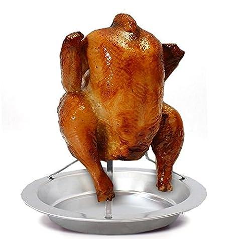 Titulaire de poulet à rôtir la bière peuvent Barbecue poêle de cuisson barbecue Rack des grillades  HNAA