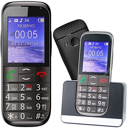 Mobiho Essentiel Le Classic Elegant 2-3G - Téléphone Portable Senior, Compatible à Quelqu'un Qui...