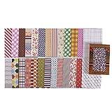 Pack de 28hojas de pegatinas decorativas, fabricadas en tela, para manualidades