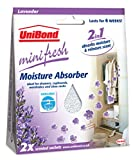 Unibond Minifresh  Moisture Absorber Sachet Pack 2 Lavender - Car Wardrobe Drawers Etc